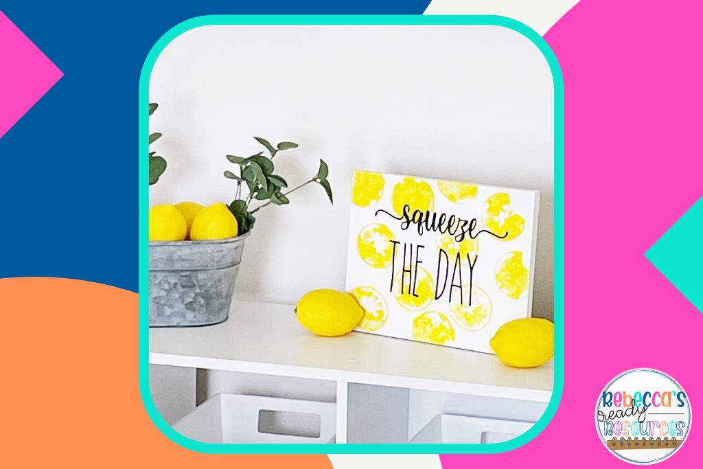 ideas for classroom decor lemon canvas